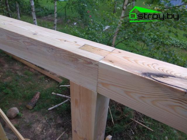 Пример выполненых работ (строительство террасы)